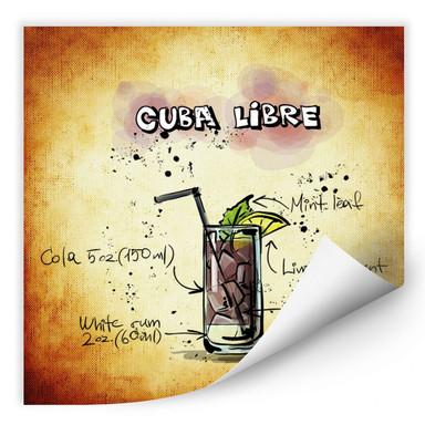 Wallprint Cuba Libre - Rezept