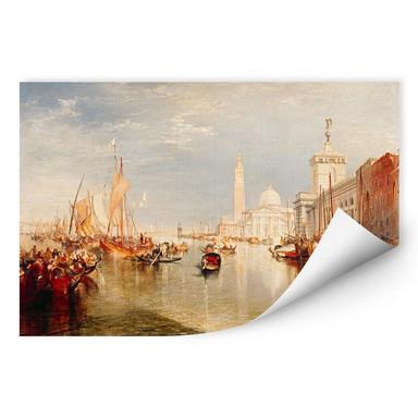 Wallprint Turner - Venedig, Dogana und S. Giorgio Maggiore