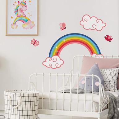 Wandsticker Regenbogen für Mädchen