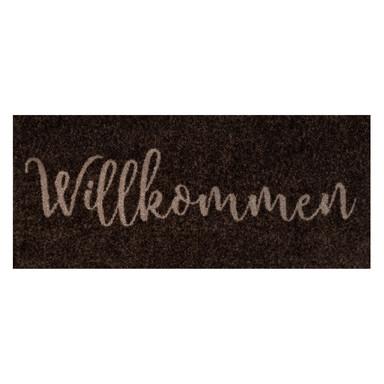 Wash&Dry Decor Fussmatte Willkommen brown