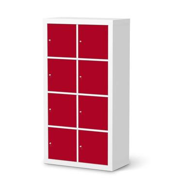 Folie IKEA Kallax Regal 8 Türen - Rot Dark- Bild 1