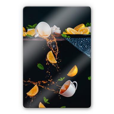 Glasbild Belenko - Tea from the top