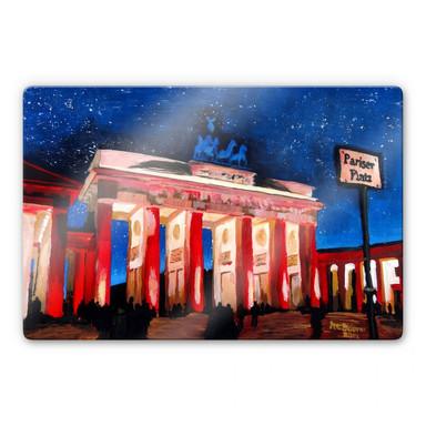 Glasbild Bleichner - Berlin unterm Sternenhimmel