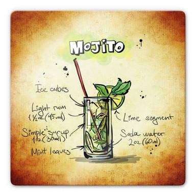 Glasbild Mojito - Rezept