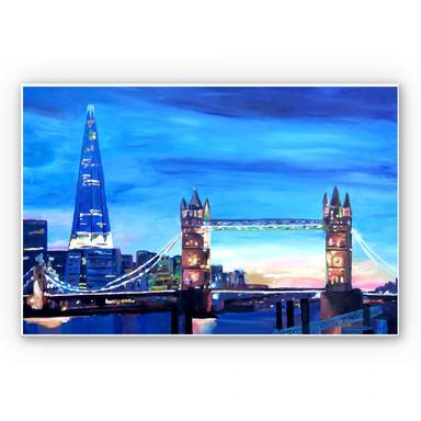 Hartschaumbild Bleichner - London Tower Bridge und The Shard