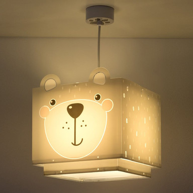 Kinderzimmer Pendelleuchte Little Teddy in Grau E27