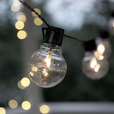 LED Garten Lichterkette Partaj, schwarz, transparent, 4500mm