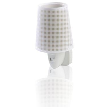 LED Kinderzimmer Nachtlicht Vichy in Beige E14
