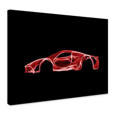 Leinwandbild Mielu - Red car