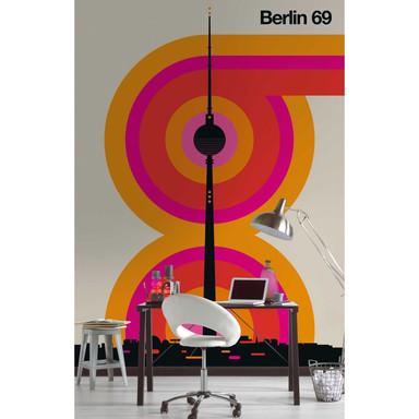 Livingwalls Fototapete ARTist Berlin 69 Alex beige, orange, rosa, schwarz - Bild 1