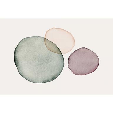 Livingwalls Fototapete ARTist Calm mit Aquarell Zeichnung creme, grün, orange, violett - Bild 1