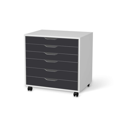 Möbelfolie IKEA Alex Rollcontainer 6 Schubladen - Grau Dark