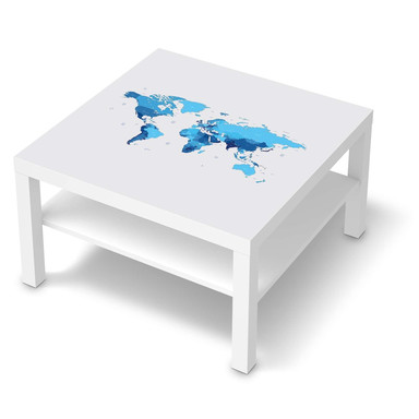 Möbelfolie IKEA Lack Tisch 78x78cm - Politische Weltkarte