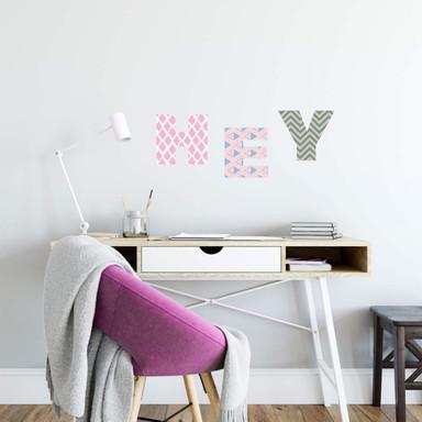 Wandtattoo Alphabet Muster Geometrisch