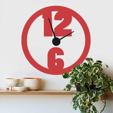 Wandtattoo + Uhr Modern Uhr - Bild 1