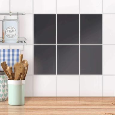 Fliesensticker unifarben - Grau Dark - 6er Set