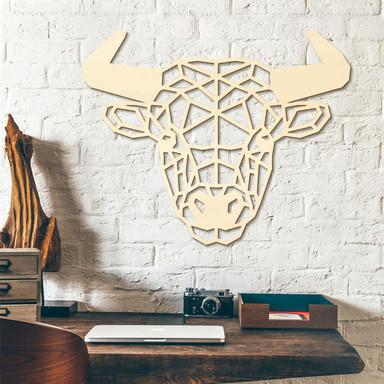 Holzkunst Pappel - Origami Stier