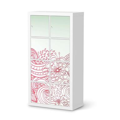 Klebefolie IKEA Expedit Regal 8 Türen - Floral Doodle- Bild 1