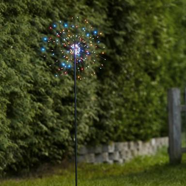 LED Erdspiessleuchte Firework in Schwarz RGBW