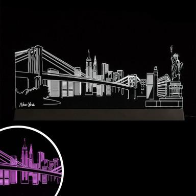 LED Skyline New York