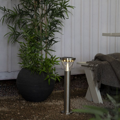 LED Solar Wegeleuchte Narona in Silber IP44