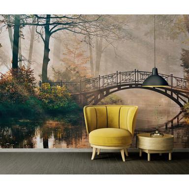 Livingwalls Fototapete Designwalls Park Bridge Wald