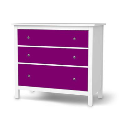 Möbelfolie IKEA Hemnes Kommode 3 Schubladen - Flieder Dark