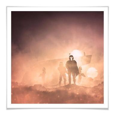 Poster Del Grosso - Tatooine - Quadratisch