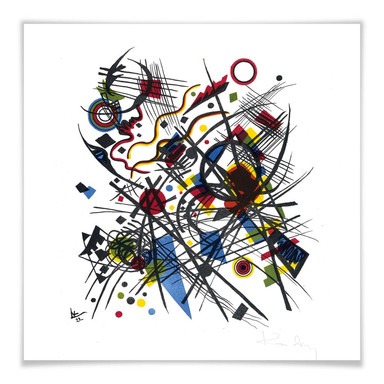 Poster Kandinsky - Lithographie fuer die Bauhausmappe
