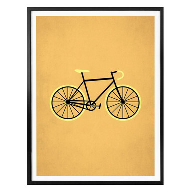 Poster Kubistika - Fahrrad Liebe