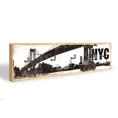 Schlüsselbrett NYC Skyline + 5 Haken