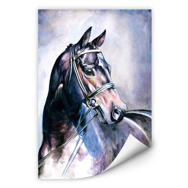 Wallprint Aquarell eines Pferdes