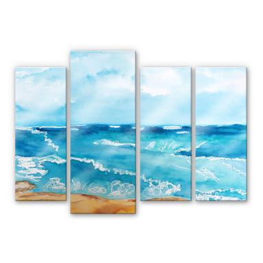 Acrylglasbild Toetzke - Meeresrausch (4-teilig)