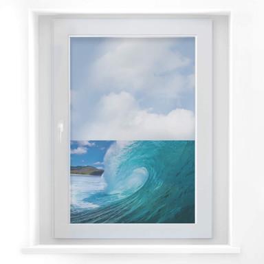 Fensterbild Welle