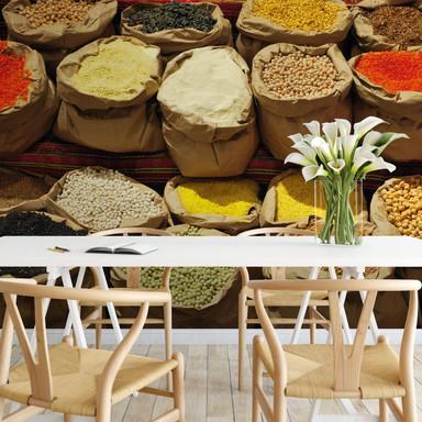 Fototapete Indischer Markt - 336x260cm - Bild 1