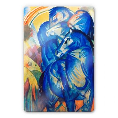Glasbild Marc - Turm der blauen Pferde