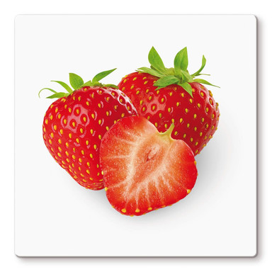 Glasbild Strawberries