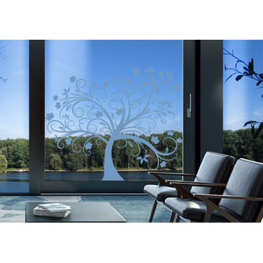 Glasdekor Herbstbaum - Bild 1