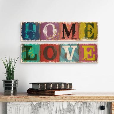 Holzschild Home & Love