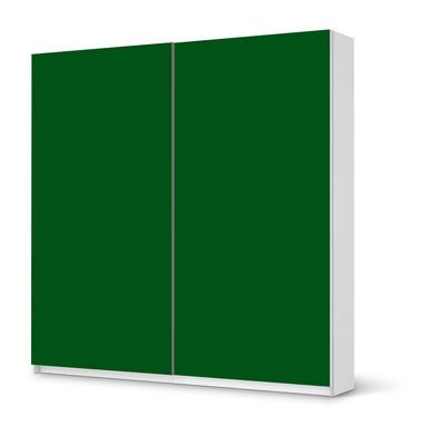 Möbel Klebefolie IKEA Pax Schrank 201cm Höhe - Schiebetür - Grün Dark- Bild 1