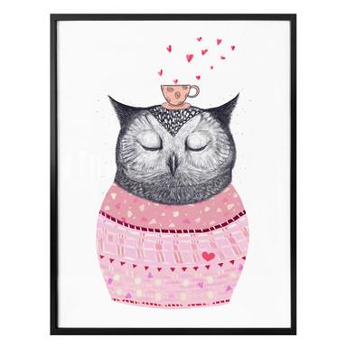 Poster Korenkova - Owl lover of coffee