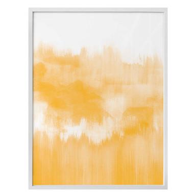Poster Nouveauprints - Watercolour Brush Strokes (gelb)