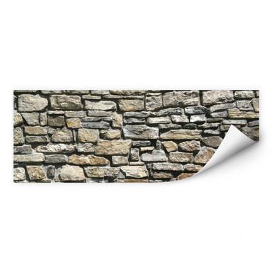 Wallprint Natursteinmauer Panorama