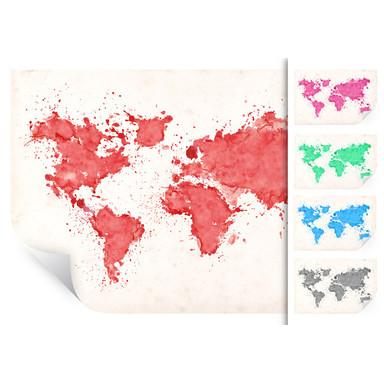 Wallprint Weltkarte Aquarell