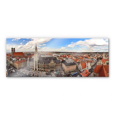 Acrylglasbild Münchener Skyline Panorama
