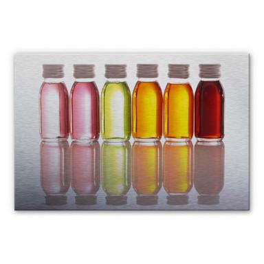 Alu Dibond Bild Oil Bottles