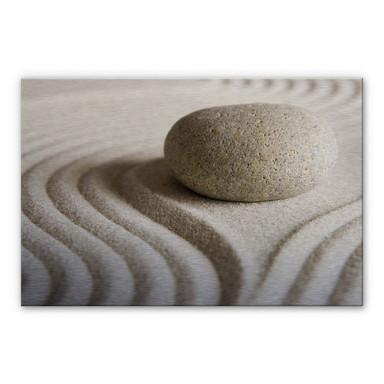 Alu Dibond Bild Stone in Sand 1