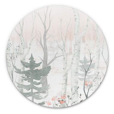 Alu-Dibond Kvilis - Im Wald - Rund