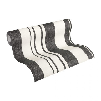 Esprit Home Vliestapete Fall in Love creme, metallic, schwarz