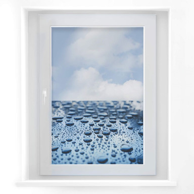 Fensterbild Waterdrops